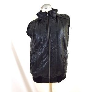 Guess S M Unisex Faux Leather Vest